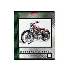 Тетрадь ErichKrause Motorcycle Story, 48 листов, клетка, голография