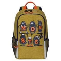 Рюкзак школьный Grizzly серый