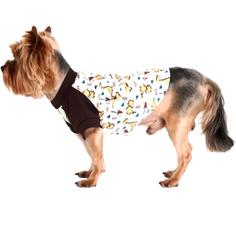 Футболка для собак YORIKI Дино унисекс размер М
