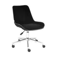 Кресло компьютерное TC флок чёрный 97х52х40 см