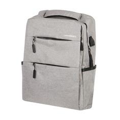 Рюкзак Baoding серый деловой 30х12х42 см