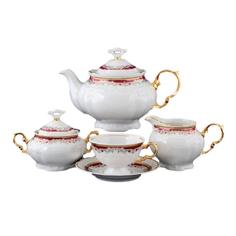 Чайный сервиз Thun 1794 6 персон 9 предметов Красная лилия