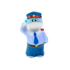 Игрушка для ванны Кудесники Бегемот-полицейский 14 см