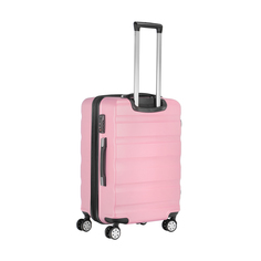 Чемодан розовый Feiyang m 65л abs+pc 44х68х30см