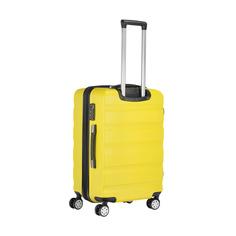 Чемодан жёлтый Feiyang m 65л abs+pc 44х68х30см