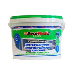 Краска Decotech Eco интерьерная влагостойкая 3 кг