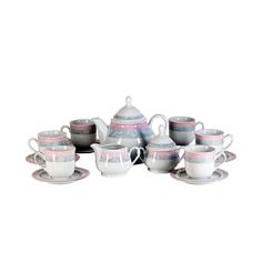 Сервиз чайный Thun 1794 Яна серый мрамор на 6 персон