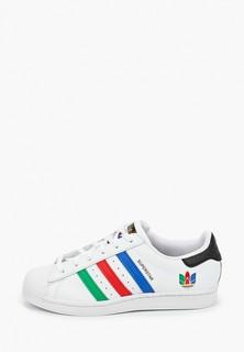 Кеды adidas Originals SUPERSTAR, 4 пары разноцветных шнурков