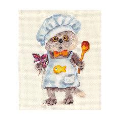 "Набор для вышивания Алиса ""Басик шеф-повар"" 10х14 см Alisa"