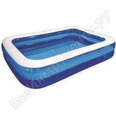 Бассейн jilong giant rectangular pool 2-ring 262x175x50см, синий семейный 10291