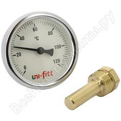 Погружной аксиальный термометр 120с, диаметр 63мм, гильза 50мм, 1/2h uni-fitt 321p4232
