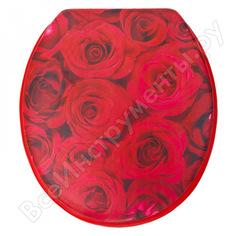 Сиденье для унитаза delphinium sym-8023 розы 105054