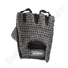 Перчатки для фитнеса atemi afg01xl, серые, размер xl 00000100926