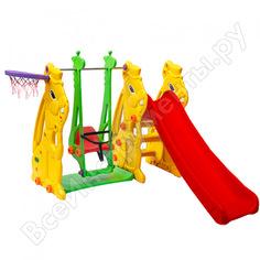 Детская игровая площадка perfetto sport: горка + качели кролик ps-033 сг000000948