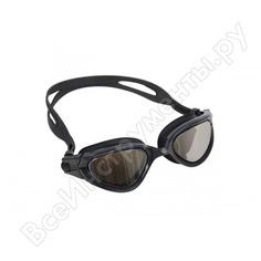Очки для плавания bradex комфорт, черные, цвет линзы - зеркальный sf 0387