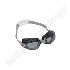 Очки для плавания bradex комфорт+, серые, цвет линзы - серый sf 0389