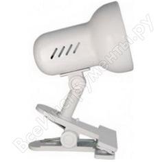 Лампа настольная camelion h-035 белая, 7198