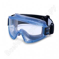 Защитные закрытые очки росомз зп2 panorama super pc 34130 с прямой вентиляцией