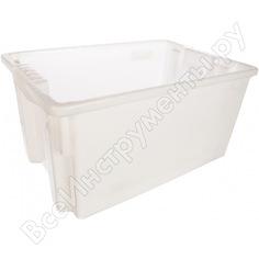 Морозостойкийсплошной ящик тара 600х400х300 мм, белый 05337