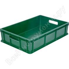 Морозостойкий зеленый ящик, 600x400x140 мм тара 16405