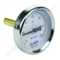 "Термометр биметаллический 63 мм, 1/2"", шток 9 мм elsen et63.12"