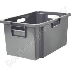 Мясной ящик п/э 600x400x300 сплош. серый тара 19567
