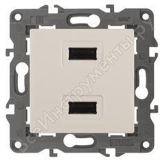 Зарядное устройство usb эра 14-4110-02 230в/5в-2100ма, ip20, elegance, слоновая кость б0034359