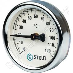Термометр биметаллический накладной с пружиной stout rg008q0c17vftu