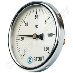 Термометр биметаллический с погружной гильзой stout rg008q0c17knt1