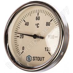 Термометр биметаллический с погружной гильзой stout rg008q0c17fpck