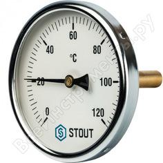 Термометр биметаллический с погружной гильзой stout rg008q0c17n5l7