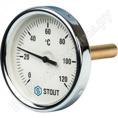 Термометр биметаллический с погружной гильзой stout rg008q0c17i5kp
