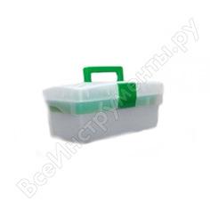 Ящик универсальный с лотком эврика 285x155x125мм, прозрачный er-10337