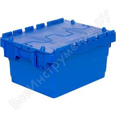 Ящик п/э 300х400х200 sembol plastik сплошной синий с крышкой 15497