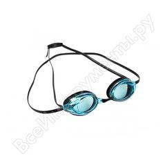 Очки для плавания bradex спорт, черные, цвет линзы - голубой sf 0395