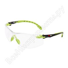 Открытые очки из поликарбоната с покрытием scotchgard 3м solus 1000 s1201sgaf-eu 7100078882