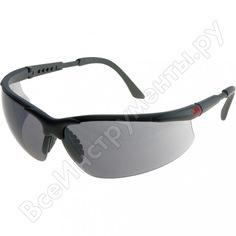 Защитные очки 3m 2821, с покрытием as/af, цвет линз серый 7000032457
