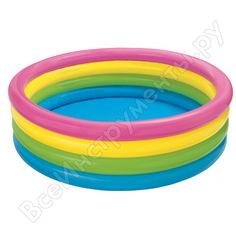 Бассейн надувной intex радуга 168x46см 56441