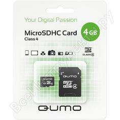 Карта памяти qumo micro sdhc 4 gb class 4 adapter c0041301