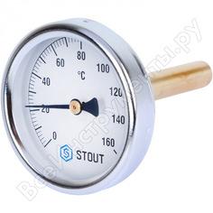 Термометр биметаллический с погружной гильзой dn 63 мм,гильза 75 мм stout sim-0002-637515 rg008uhj6tuleq