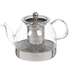 Чайник заварочный стеклянный, 1000 мл, Y6-2598 I.K с фильтром