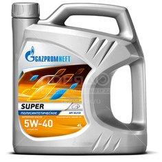 Масло моторное полусинтетическое 5W40 Gazpromneft Super, 4 л