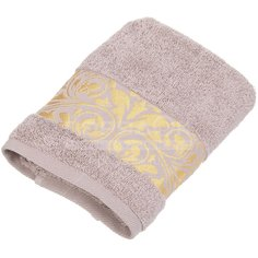 Полотенце банное, 50х90 см, Cleanelly Золотая листва, 420 г/кв.м, бежевое