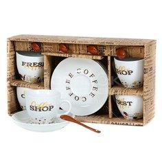 Сервиз чайный из керамики, 8 предметов, Coffeёк RS097-1945J