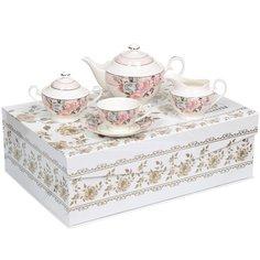 Сервиз чайный из фарфора, 15 предметов, Пудровый шлейф МА025P/15 Beatrix