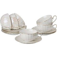 Сервиз чайный из керамики, 12 предметов, 275-888