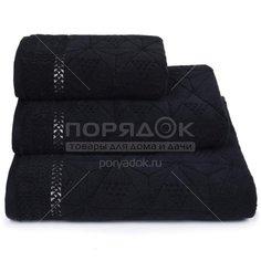 Полотенце банное, 70х140 см, Cleanelly Черные скалы черное, 490 г/кв.м, ПЦ-725-4136