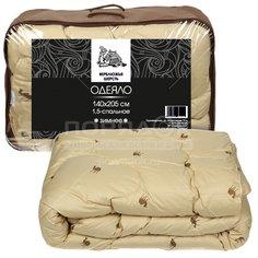 Одеяло Верблюжья шерсть Selena Комфорт, полиэстер, с кантом, 140х205 см