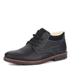 Ботинки Черные велюровые ботинки на шнуровке Rieker