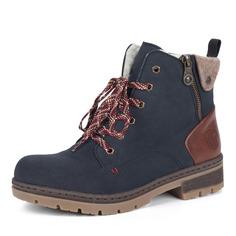 Ботинки Синие ботинки из экокожи на шнуровке Rieker
